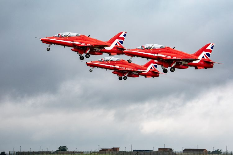 Red Arrows departing RAF Scampton in Lincolnshire for North America tour 020819 CREDIT MOD