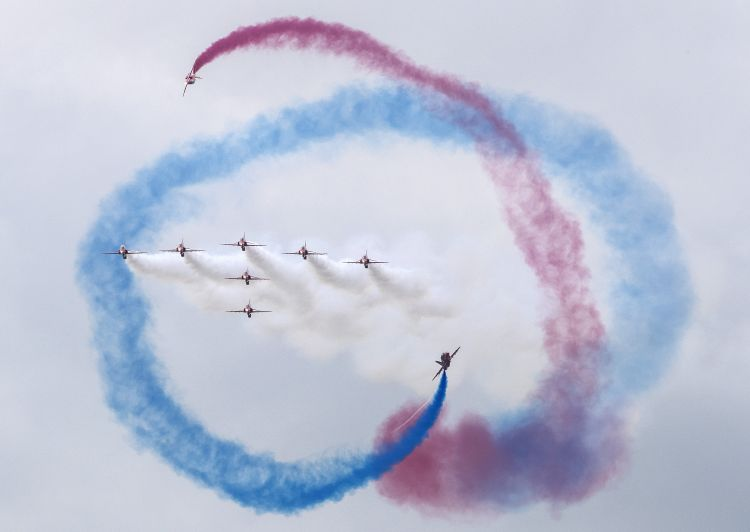 It was the Red Arrows' last display before their tour of North America (Picture: MOD).