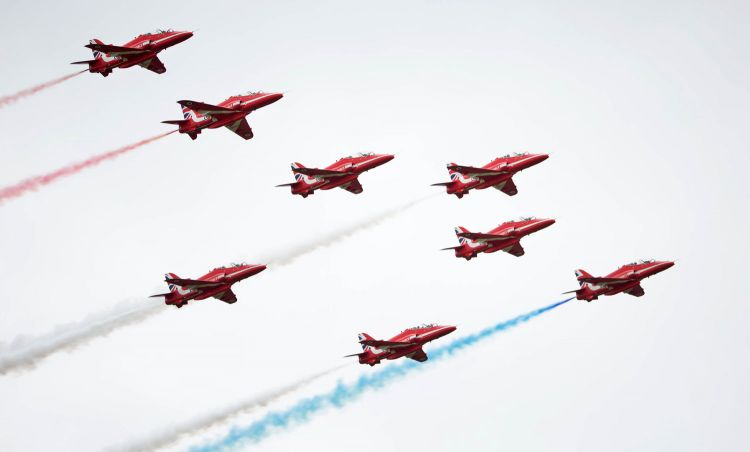 Red Arrows RAF Scampton Airshow 2017 Royal Air Force