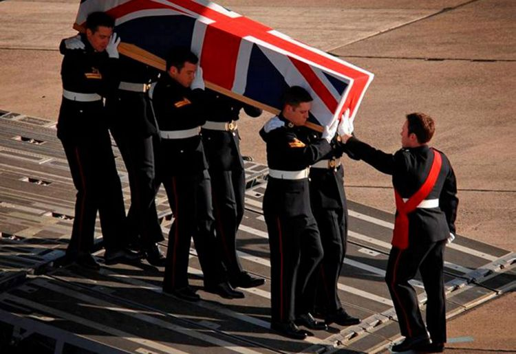 Repatriation of a Royal Marine killed in Afghanistan, 2009