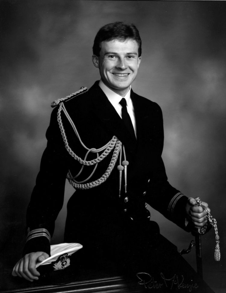 Rod Brown in his Royal Navy days