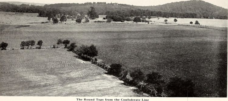 Roundtops from the Confederate lines pic taken on 50th anniversary