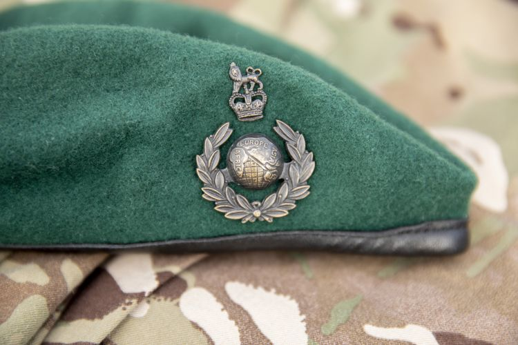 The coveted 'green beret' of the Royal Marines. Credit: Georgina Coupe, BFBS
