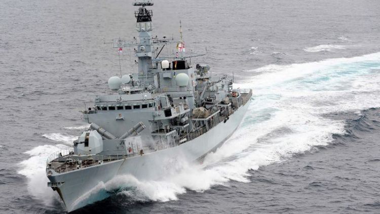The Royal Navy's Type 23 frigate HMS Montrose
