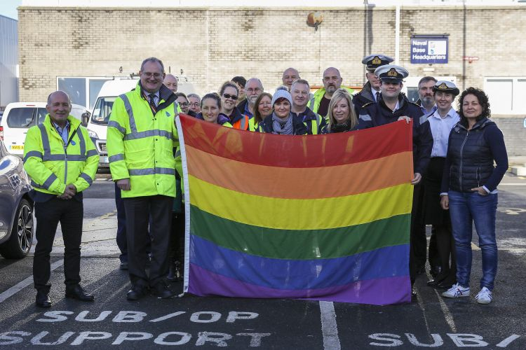 Royal Navy celebrate 20 years since LGBT ban was lifted CREIT ROYAL NAVY 100120