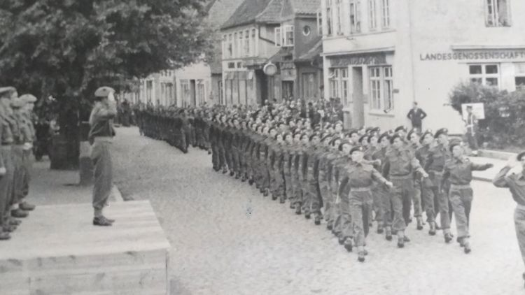 Royal Scots troops during World War Two