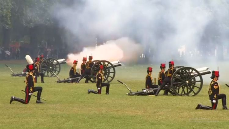 King's Troop Royal Horse Artillery fire a 41 gun salute in June 2015 Credit Forces News