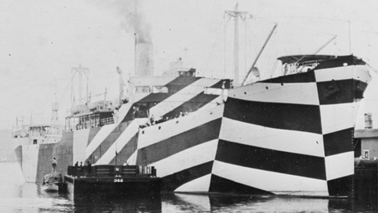 SS West Mahomet in dazzle camouflage, 1918