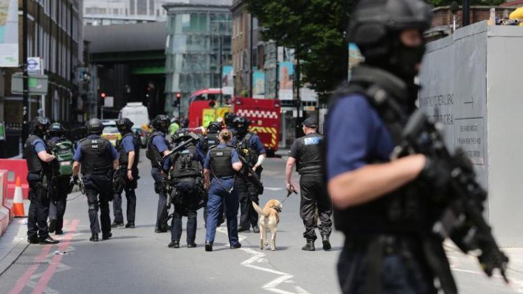 Police secure scene after London Bridge attack