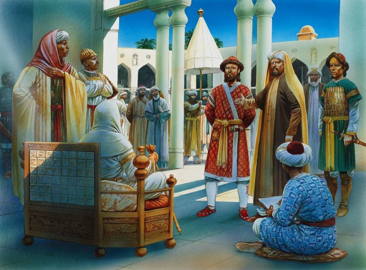 Saladin brings his brother Turan Shah to the Fatimid Caliphate capital of Cairo with an army, August 1169