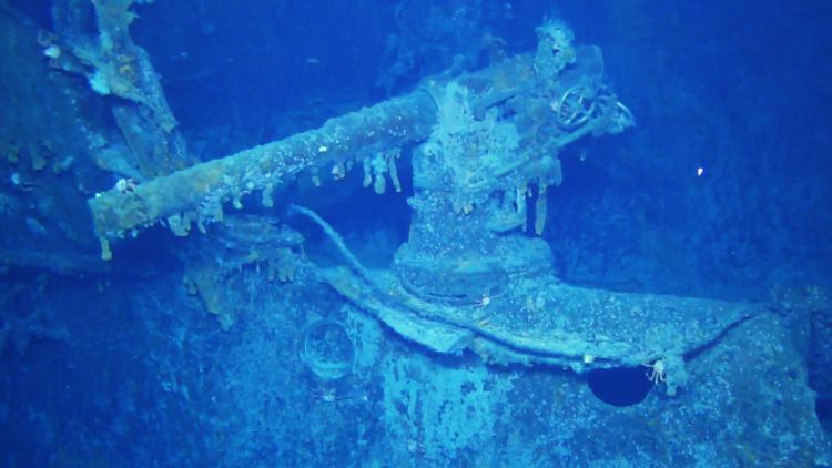 Scharnhorst guns on wreck found falklands 051219 CREDIT Falklands Heritage Maritime Trust.jpg