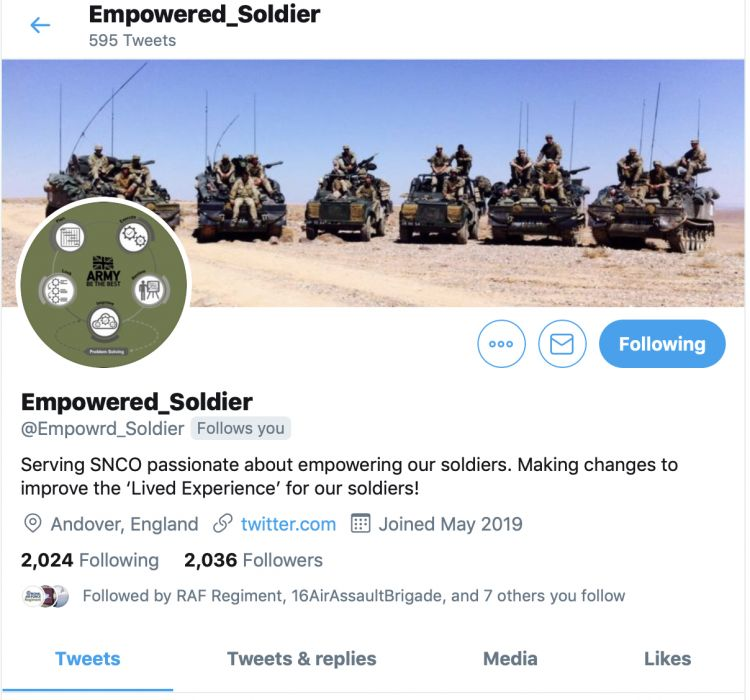 Empowered_Soldier Twitter Page