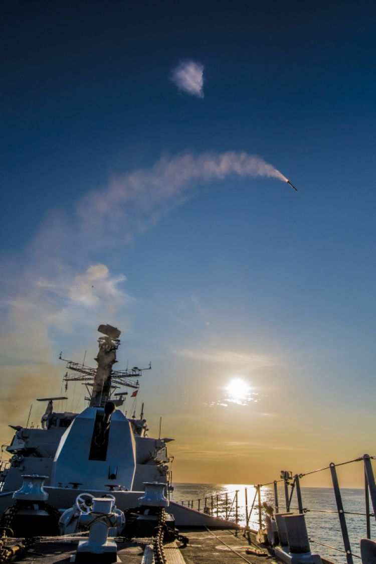 Sea Ceptor launch from HMS Argyll.