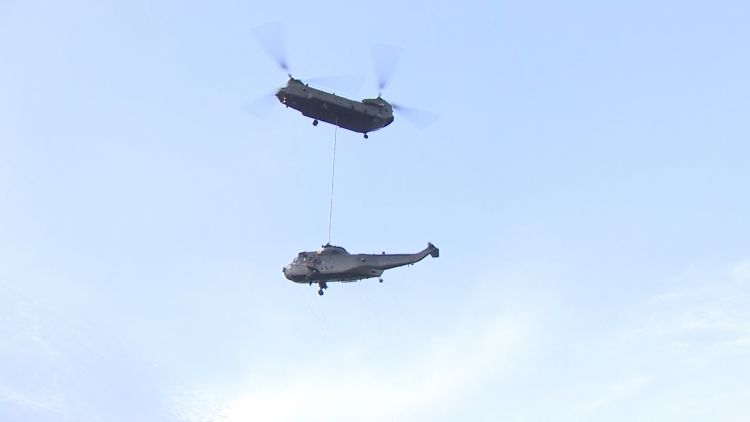 Sea King Gift Is Airlifted To Norway By Chinook BFBS 171218.jpg