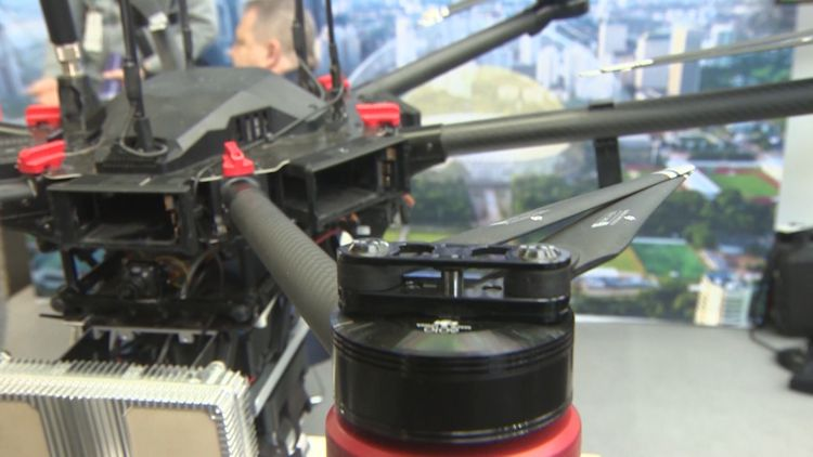 Security & Counter Terror Expo Drone Hunter Credit BFBS 060319
