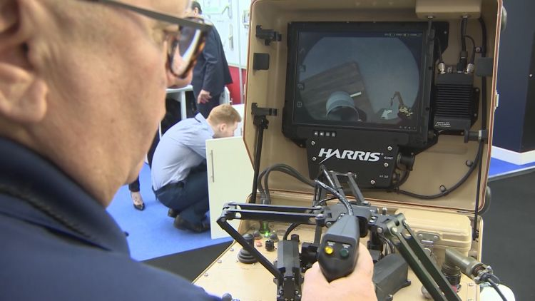 Security & Counter Terror Expo Harris T7 Robot Credit BFBS 060319