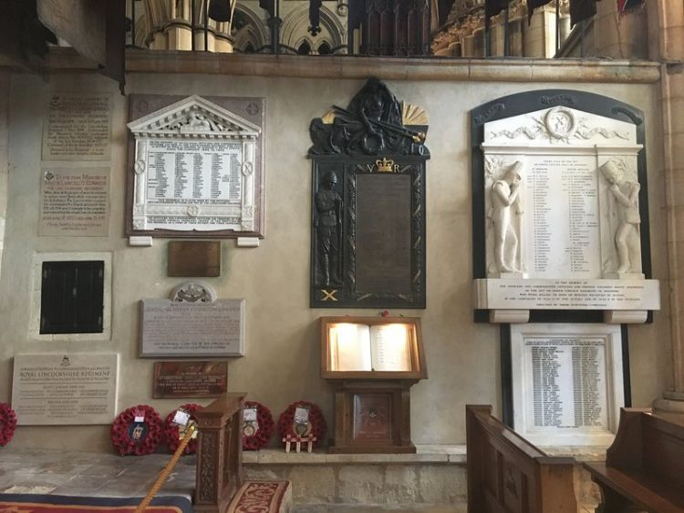 Lincoln Cathedral Service Chapel Memorials