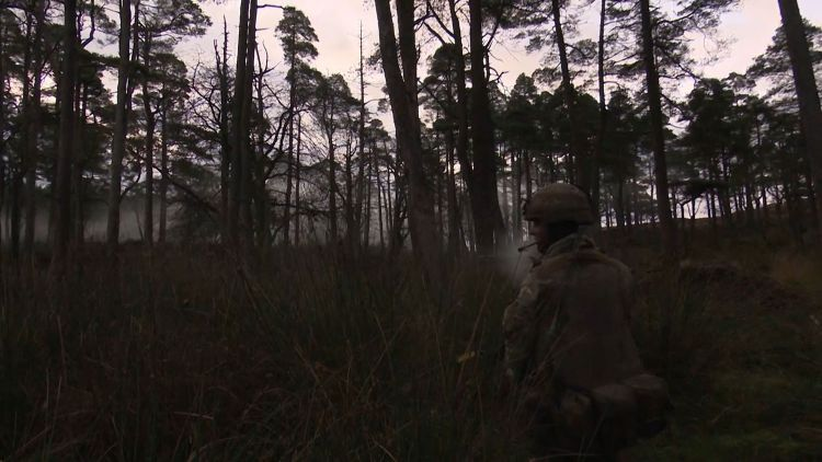 2 RIFLES And 1 SCOTS Train In Galloway Forest