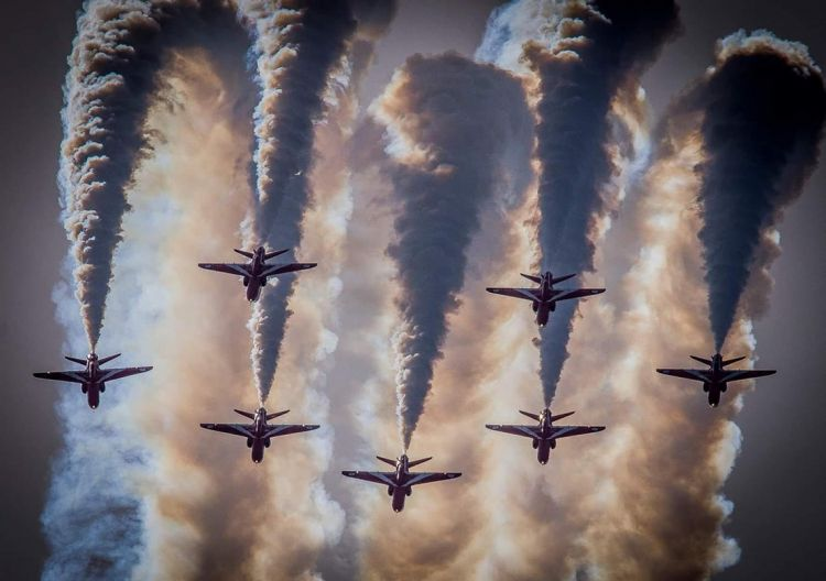 Smoke in the sun, RAF Photographic Competition by Mr Mark Thompson CREDIT Crown Copyright
