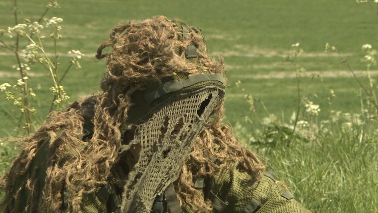Sniper with camouflage in the field 230919 CREDIT BFBS.jpg