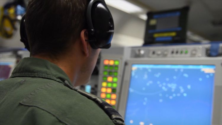 So-called mission crew on the AWACS (Picture: NATO TV).