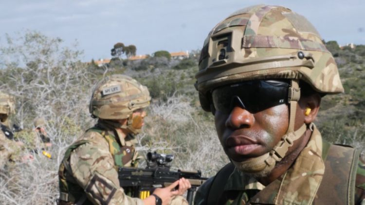 Soldier during Cyprus Signals Exercise 220119 CREDIT Forces News