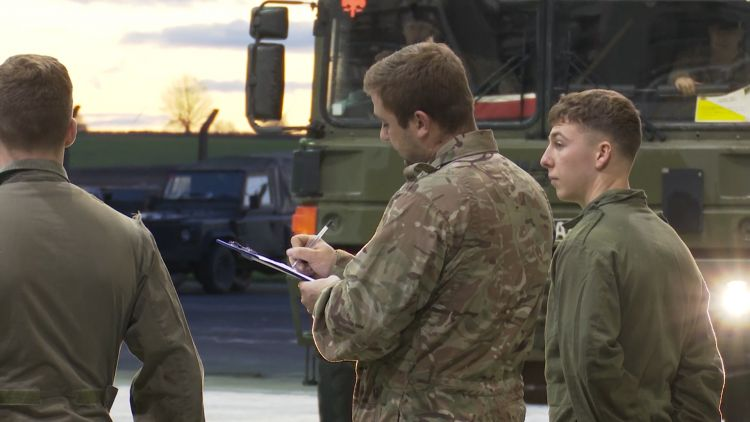 Soldiers carefully checked the vehicles.