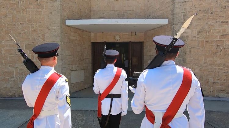 Soldiers from 2 Mercian at Garrison Church in Episkopi Cyprus 060720 CREDIT BFBS.jpg