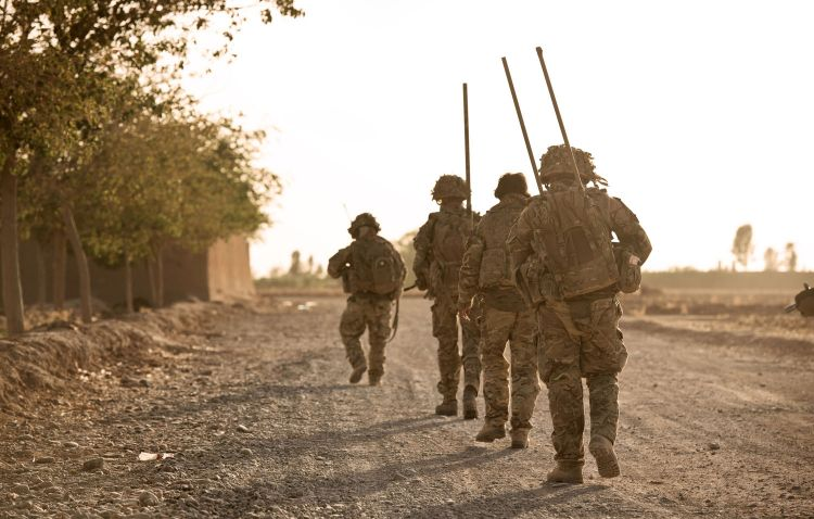 Soldiers 5 RIFLES 5th Battalion The Rifles Helmand Province Afghanistan DNI
