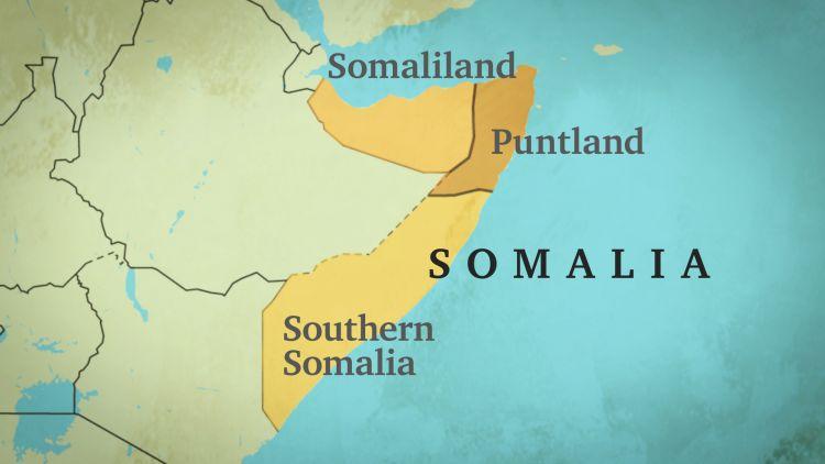 Somalia Map Regions Main