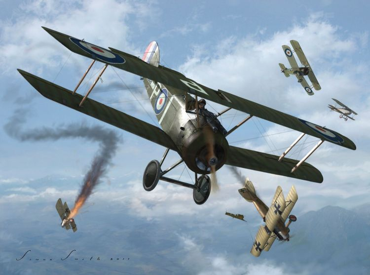 First World War dogfight