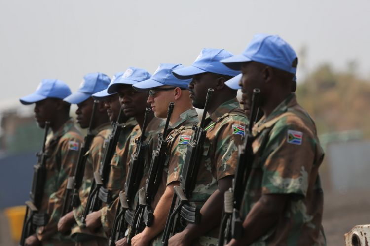 South African soldiers on a UN mission in the Congo