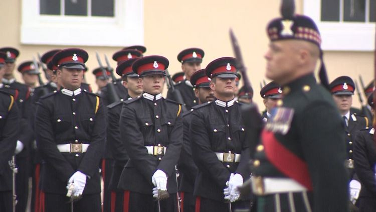 Sovereign Parade at Sandhurst with Mark Carleton-Smith  100818