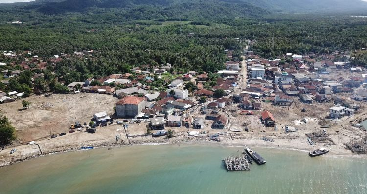 Tsunami aftermath in the Sumur region (Picture: Team Rubicon UK).