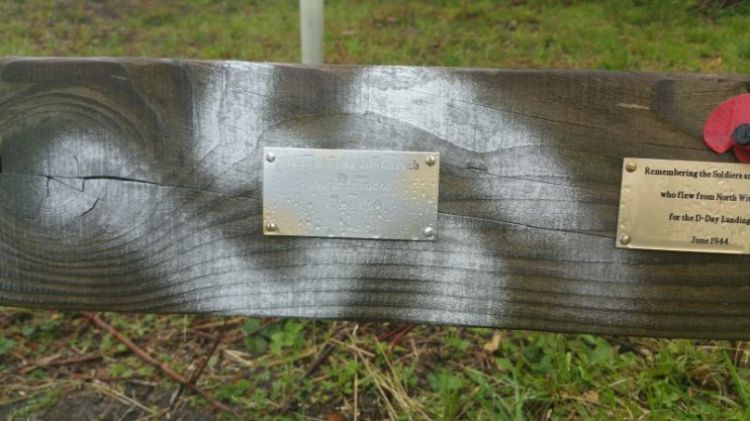 Swastikas sprayed on D-Day veterans' bench at Twyford Woods 2 Credit Lincolnshire Police 100619