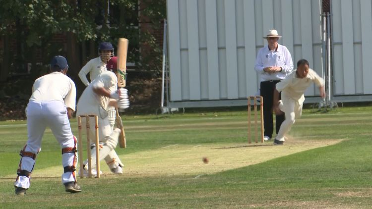 Battling it out for the Army Cricket championship (Credit: Forces News)