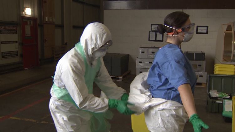 Tactical Medical Wing Training Decontamination