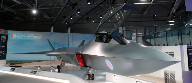 A model of the Tempest fighter jet was unveiled in Farnborough. (Image: PA).