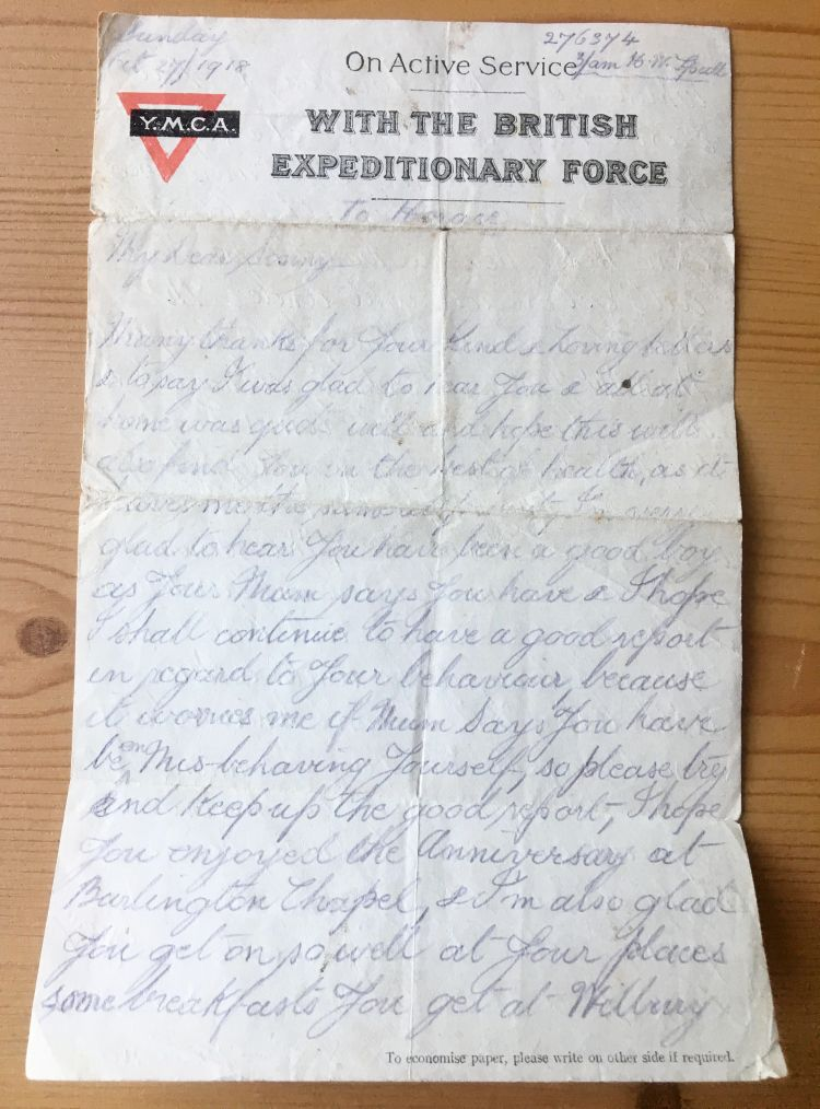 The 100-year-old letter (Picture: SWNS).