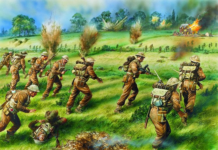 The 3rd Grenadier Guards counter-attack, 2000hrs, 27 May 1940 from Gelb 2 bk
