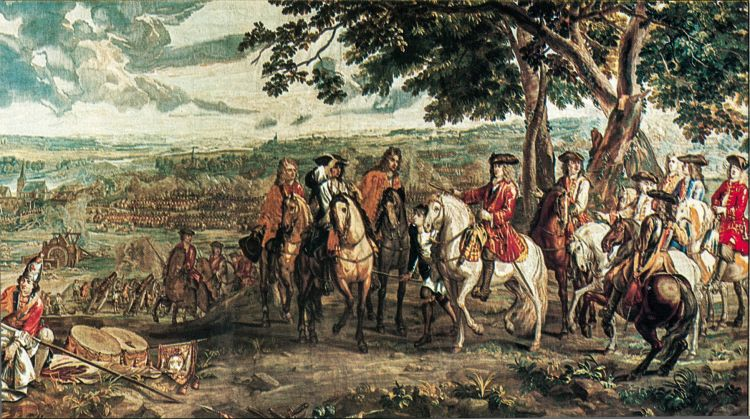 The Duke of Marlborough accepts the French surrender at Blenheim, 1704