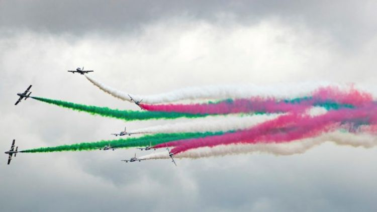 The Frecce Tricolori perform an air display at RIAT 2019 210719 CREDIT MOD