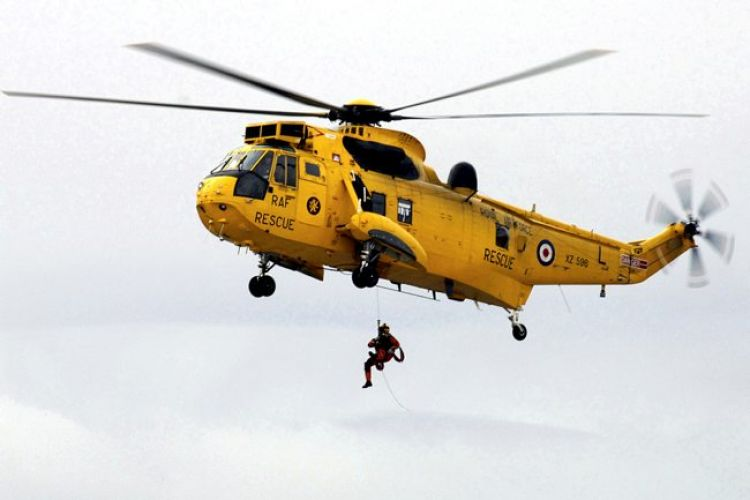 The Sea King was used for search and rescue operations (Picture: MOD).