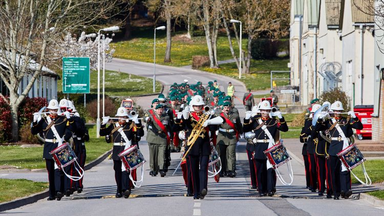 The band of Her Majesty's Royal Marines Plymouth during the Firmin Sword of Peace presentation (Picture: MOD).