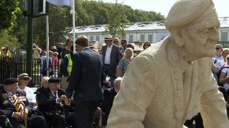 The statues represent some of the D-Day veterans 220519 CREDIT BFBS.jpg