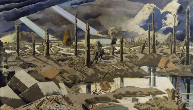 The Menin Road by Paul Nash, a depiction of the battle