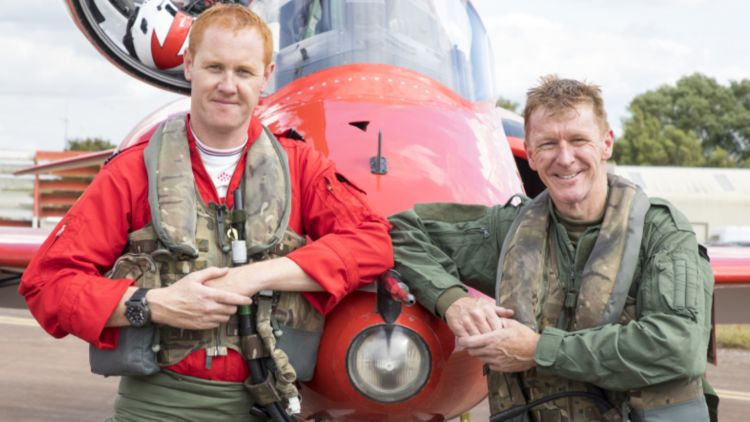Tim Peake with Red 1 RIAT