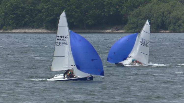 The final regatta at the British Moehnesee Sail Training Centre.