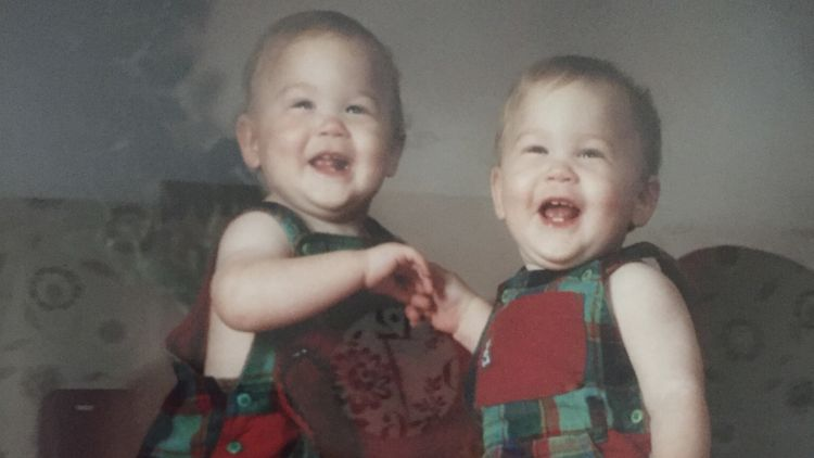 Tom and Ben Dell as babies