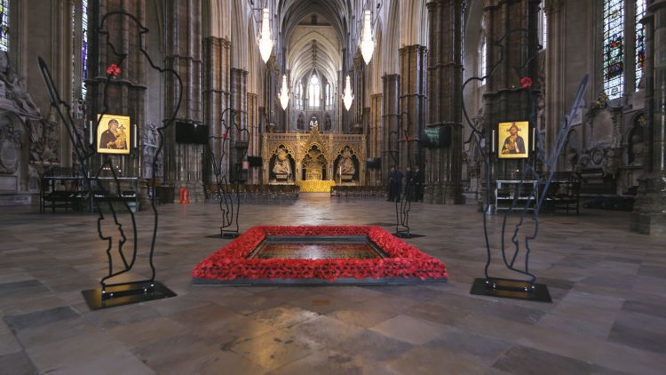 There But Not There Westminster Abbey Grave Of The Unknown Warrior Art Installation First World War WW1